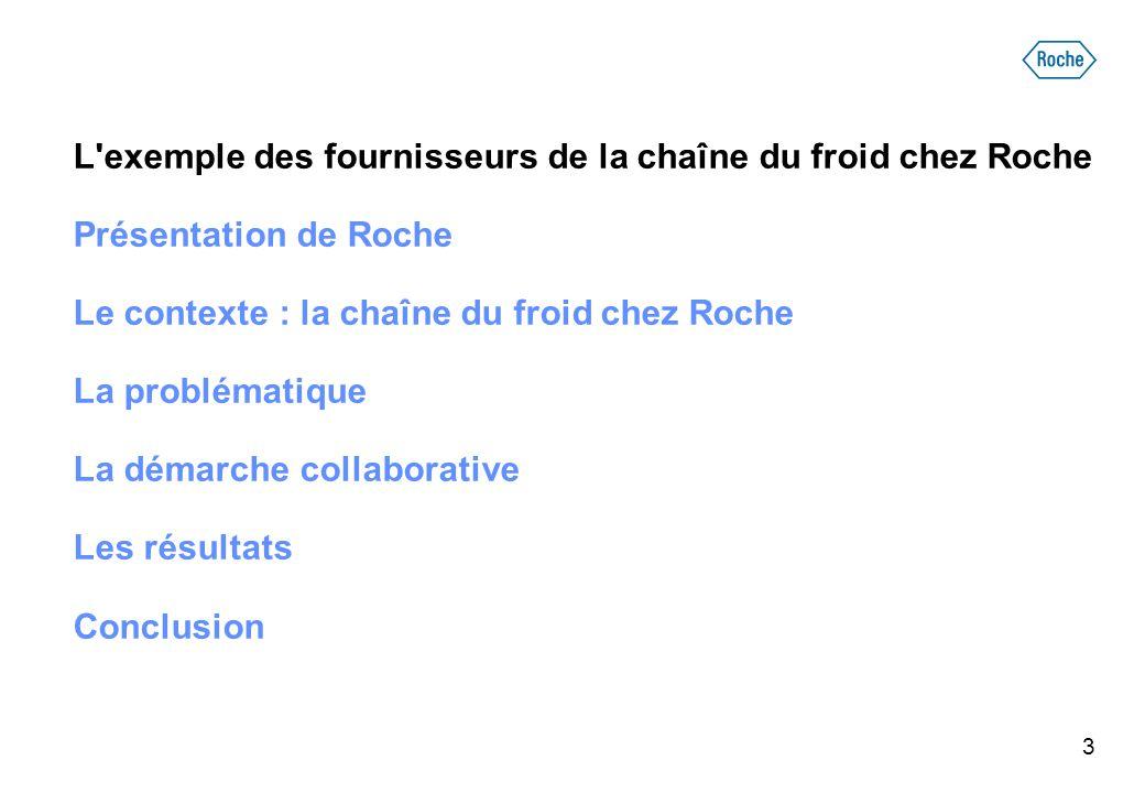 L exemple des fournisseurs de la chaîne du froid chez Roche