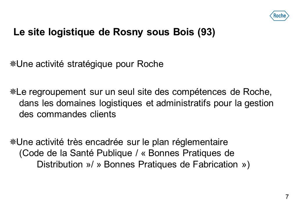 Le site logistique de Rosny sous Bois (93)