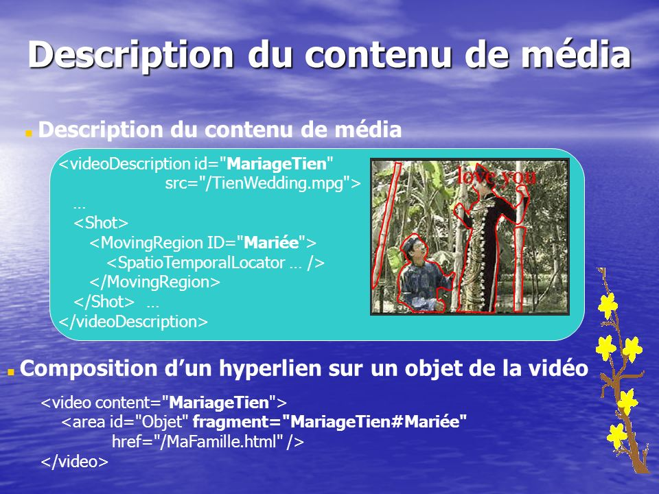 Description du contenu de média