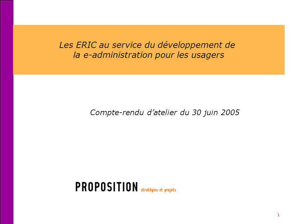 Les ERIC au service du développement de
