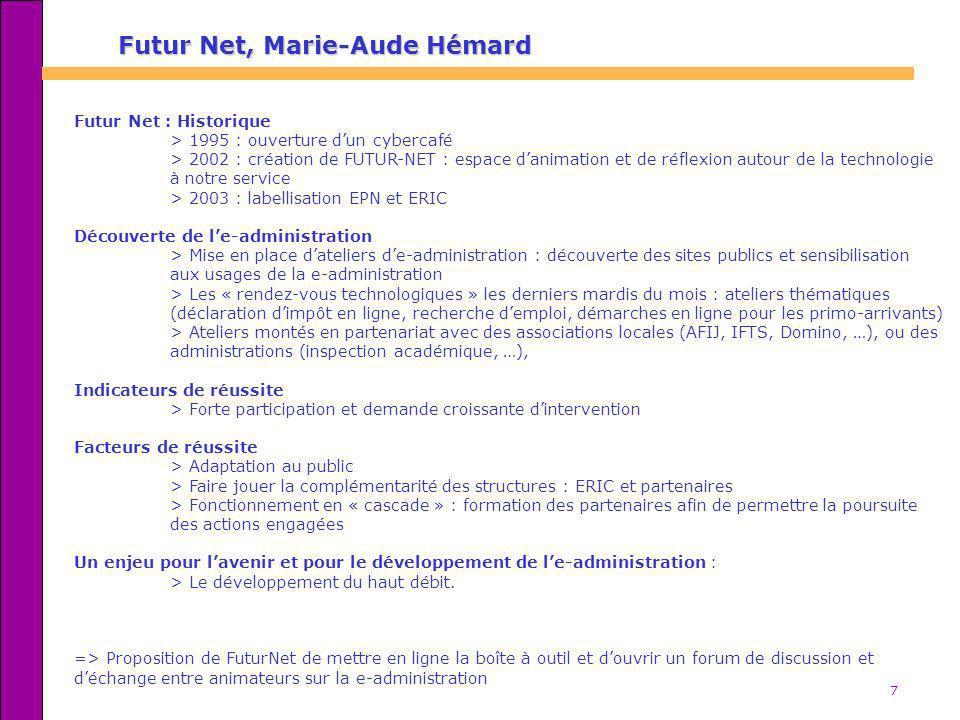 Futur Net, Marie-Aude Hémard