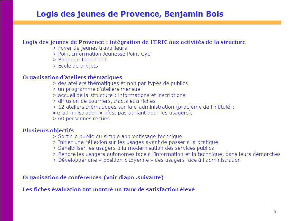 Logis des jeunes de Provence, Benjamin Bois