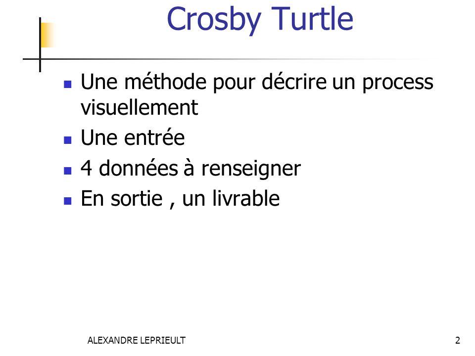 Crosby Turtle Une méthode pour décrire un process visuellement
