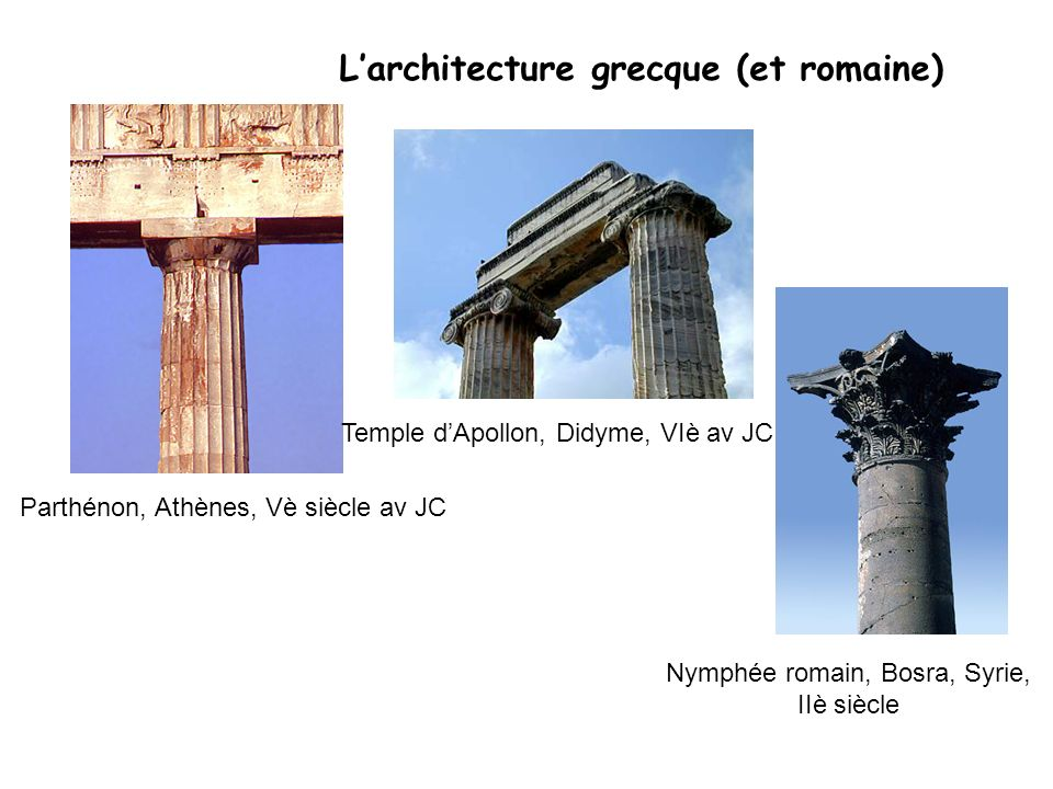 L'architecture grecque (et romaine)