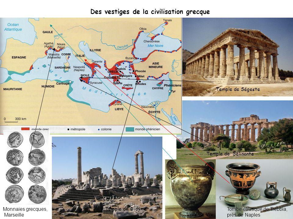 Des vestiges de la civilisation grecque