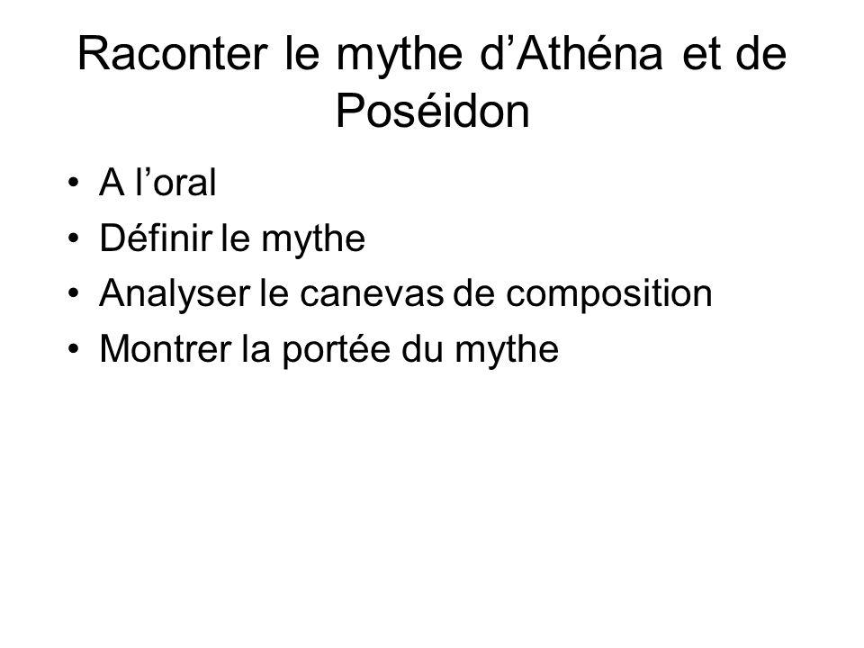 Raconter le mythe d'Athéna et de Poséidon