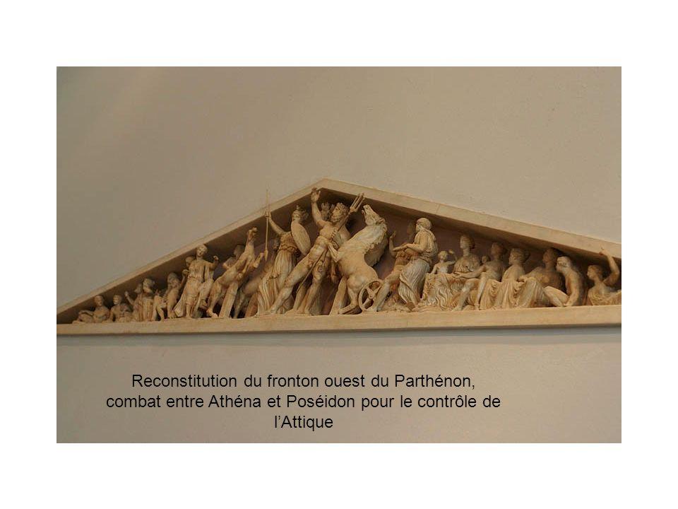 Reconstitution du fronton ouest du Parthénon,