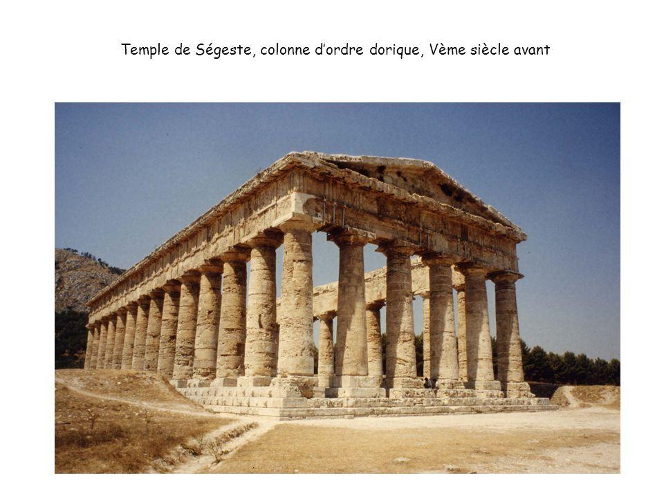 Temple de Ségeste, colonne d'ordre dorique, Vème siècle avant