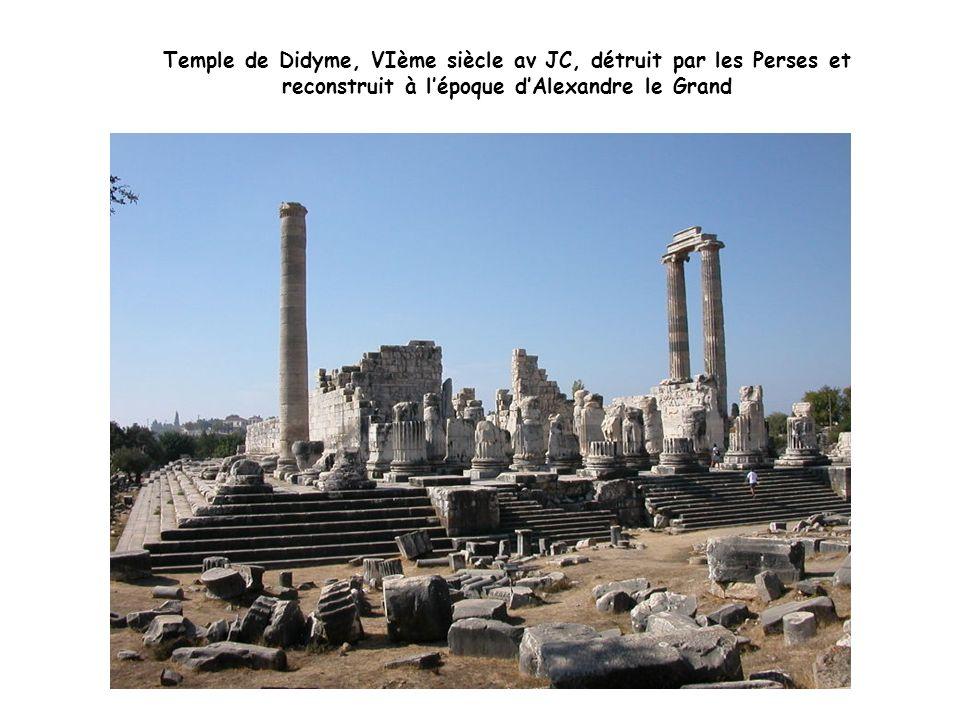Temple de Didyme, VIème siècle av JC, détruit par les Perses et reconstruit à l'époque d'Alexandre le Grand