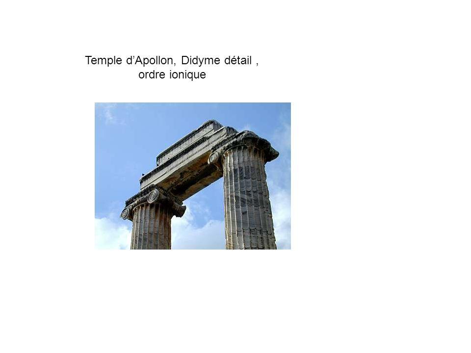 Temple d'Apollon, Didyme détail , ordre ionique