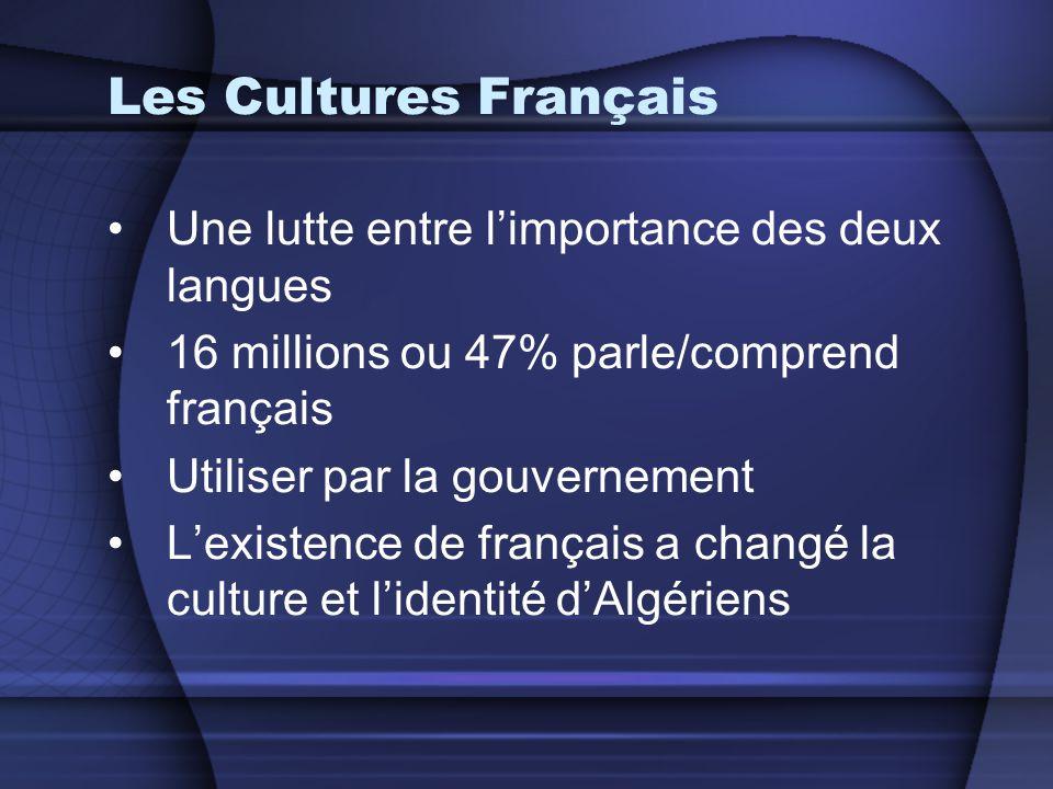 Les Cultures Français Une lutte entre l'importance des deux langues