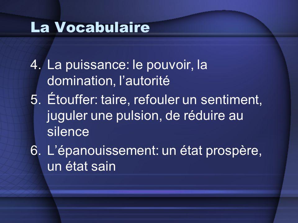 La Vocabulaire La puissance: le pouvoir, la domination, l'autorité