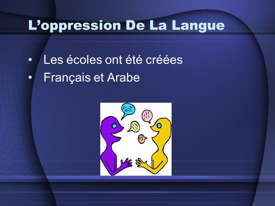 L'oppression De La Langue