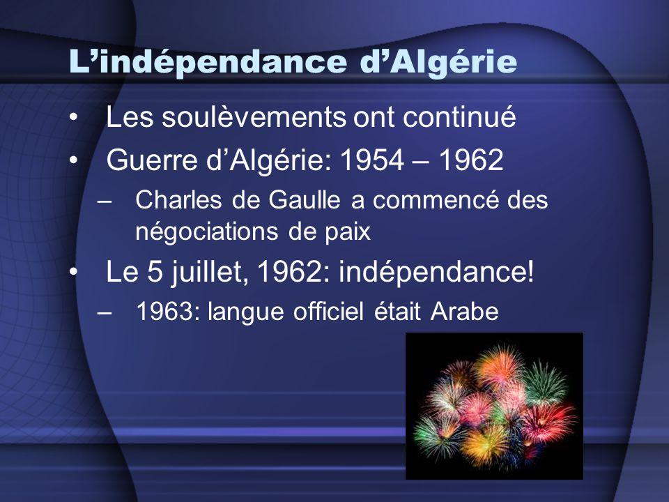 L'indépendance d'Algérie