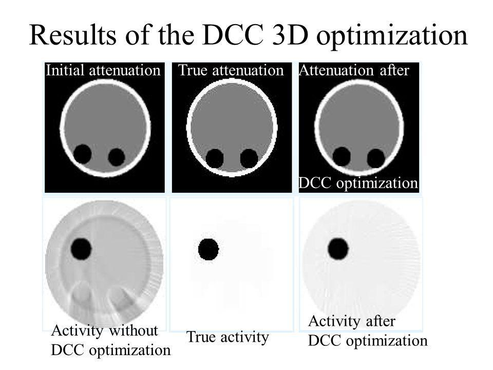 Results of the DCC 3D optimization