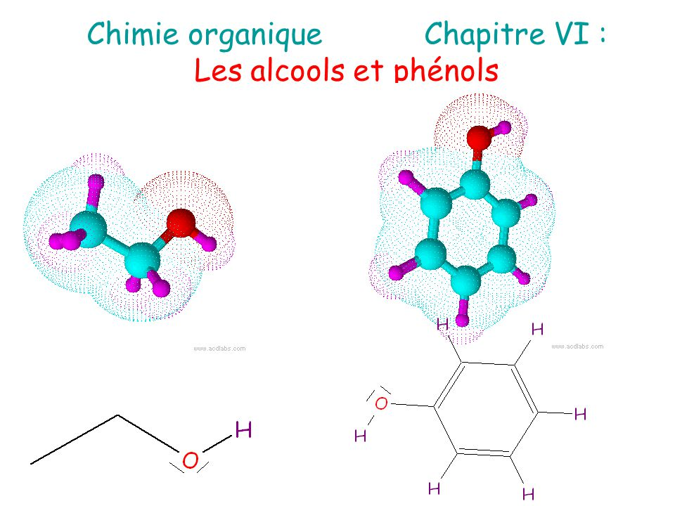 Chimie organique Chapitre VI :