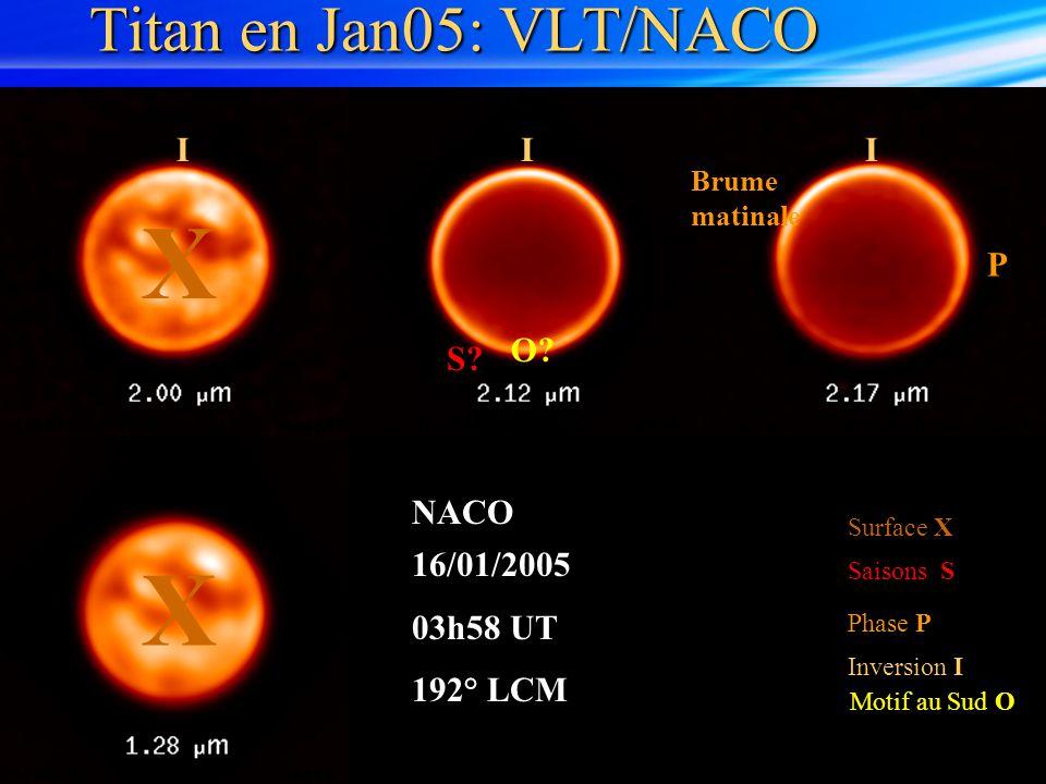 X Titan en Jan05: VLT/NACO I P O S NACO 16/01/2005 03h58 UT 192° LCM
