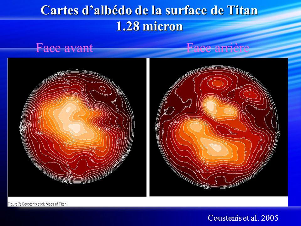 Cartes d'albédo de la surface de Titan