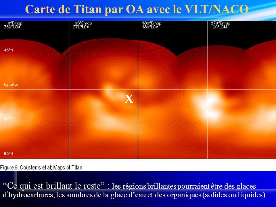 Carte de Titan par OA avec le VLT/NACO