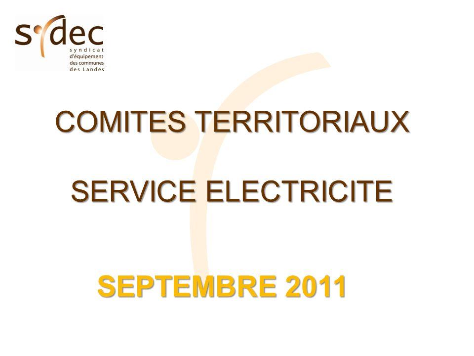 COMITES TERRITORIAUX SERVICE ELECTRICITE SEPTEMBRE 2011