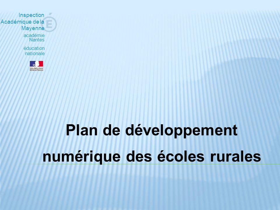 Plan de développement numérique des écoles rurales