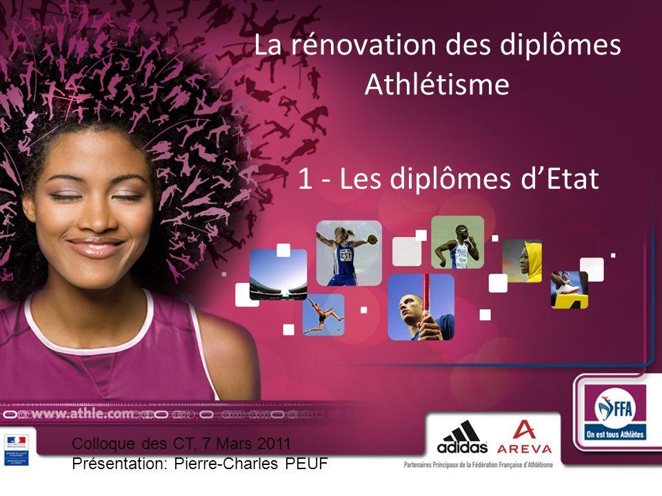 La rénovation des diplômes Athlétisme