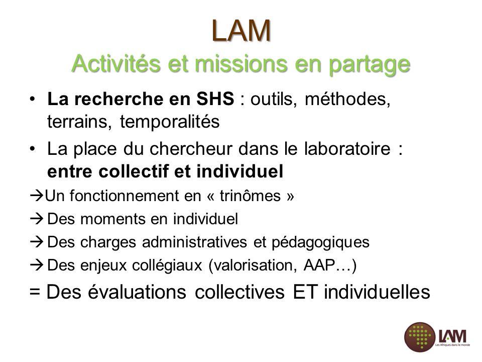LAM Activités et missions en partage