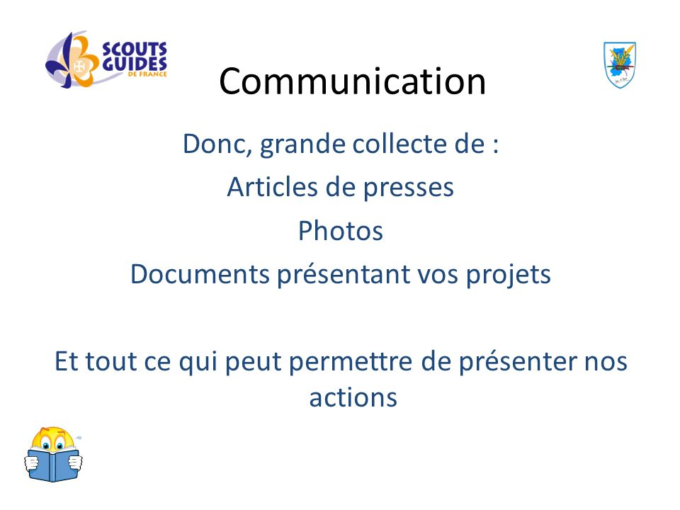 Communication Donc, grande collecte de : Articles de presses Photos
