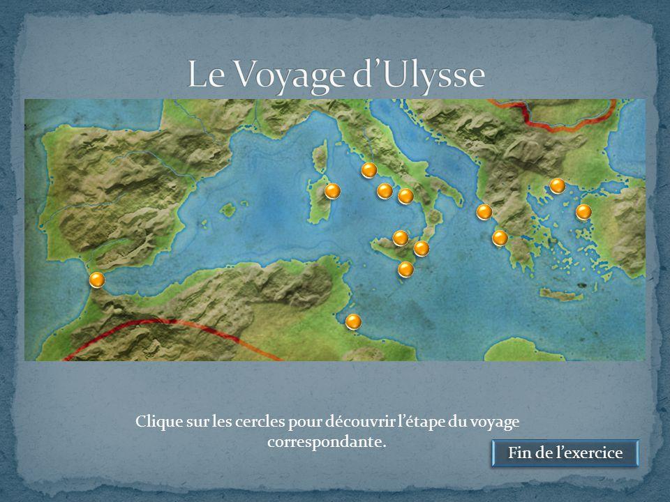 Le Voyage d'Ulysse Clique sur les cercles pour découvrir l'étape du voyage correspondante.