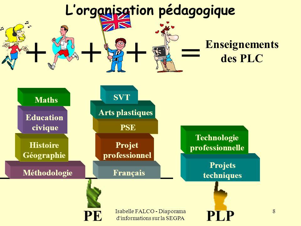 L'organisation pédagogique