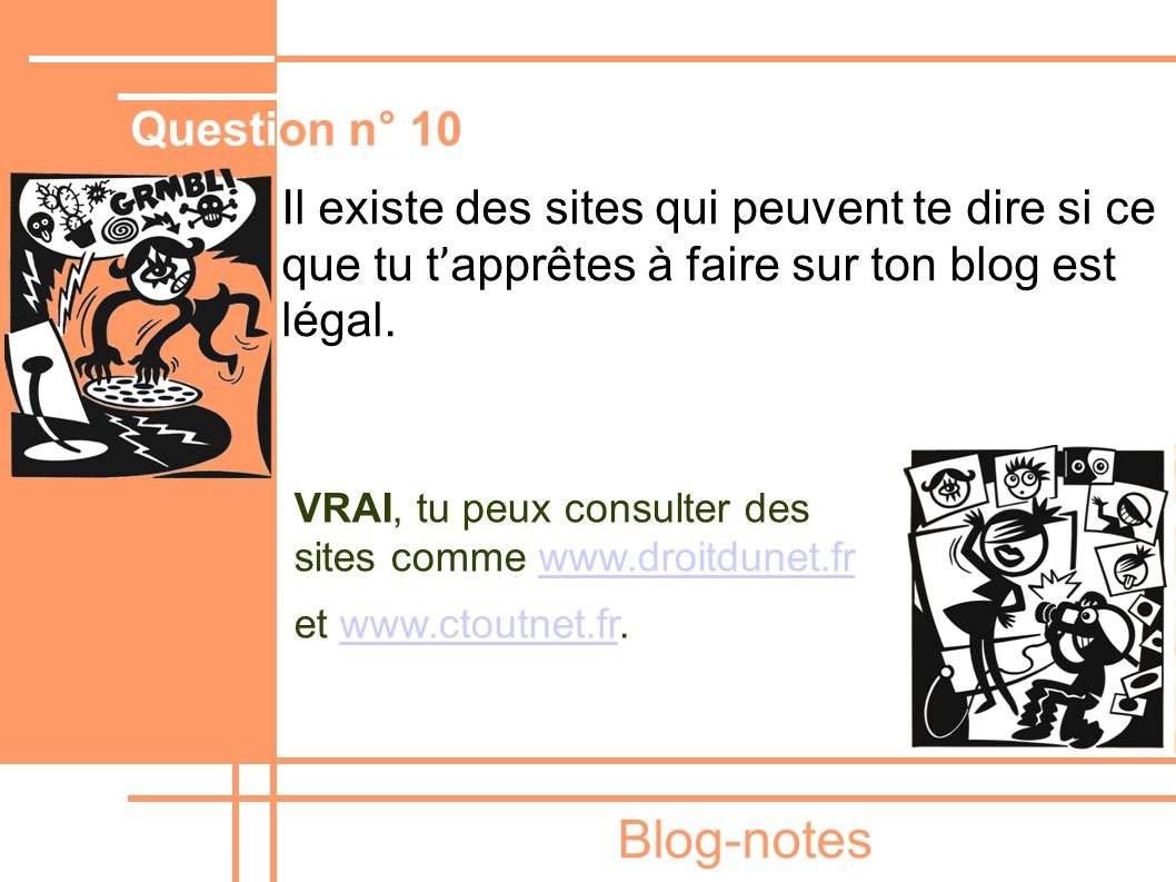 Blog-notes Question n° 10