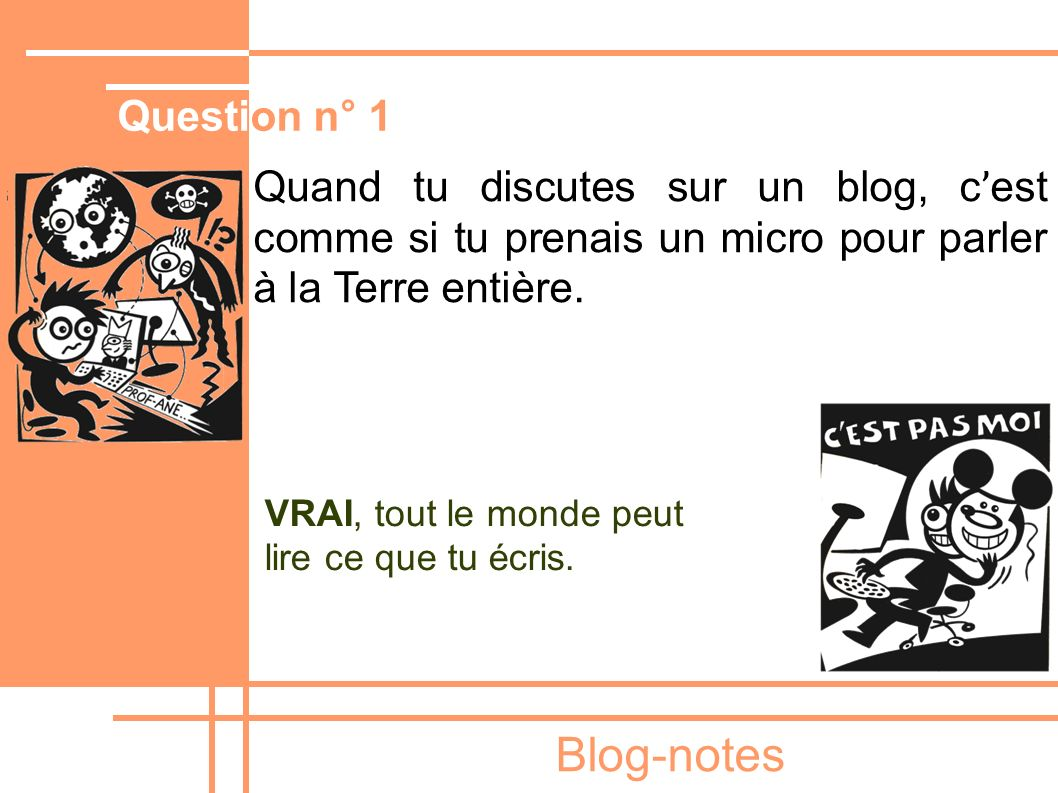 Blog-notes Question n° 1