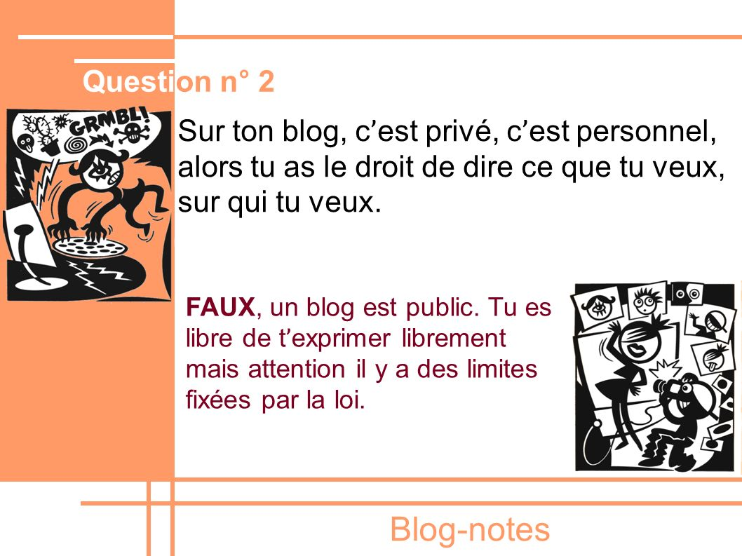 Blog-notes Question n° 2