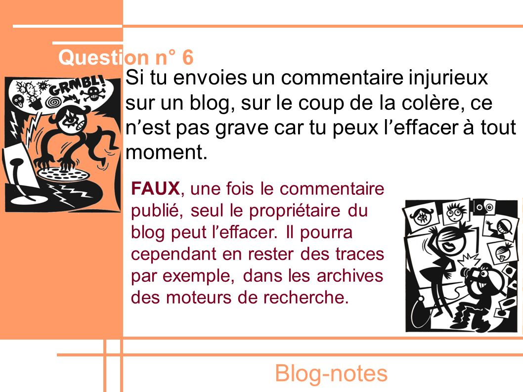 Blog-notes Question n° 6