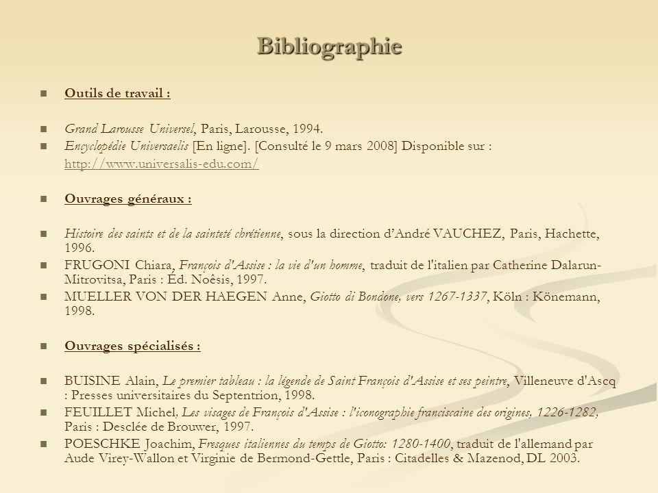 Bibliographie Outils de travail :