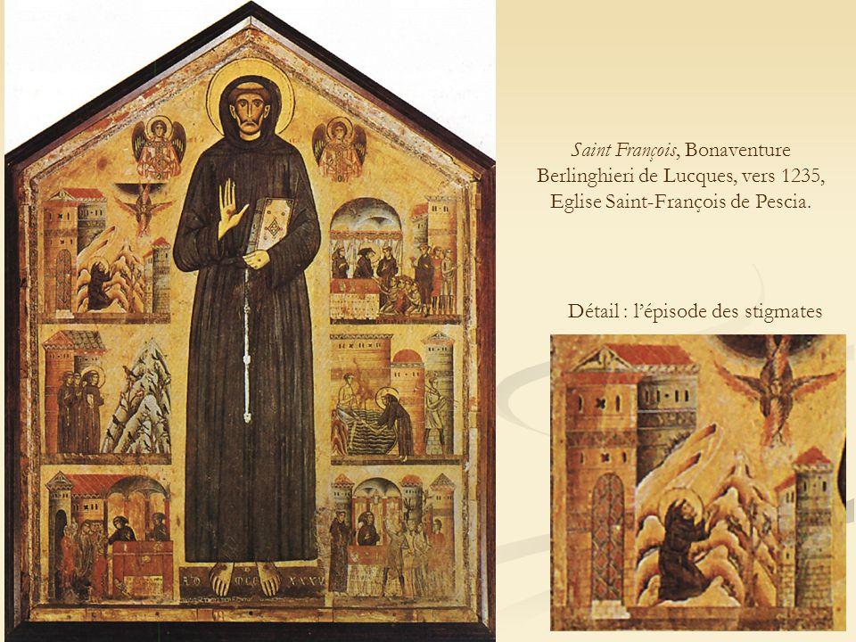 Saint François, Bonaventure Berlinghieri de Lucques, vers 1235, Eglise Saint-François de Pescia.