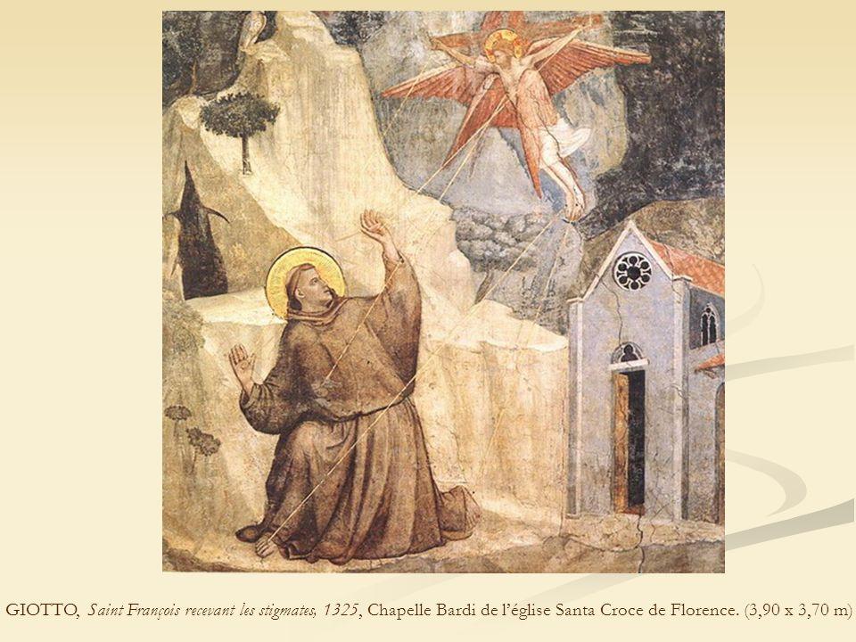 GIOTTO, Saint François recevant les stigmates, 1325, Chapelle Bardi de l'église Santa Croce de Florence.
