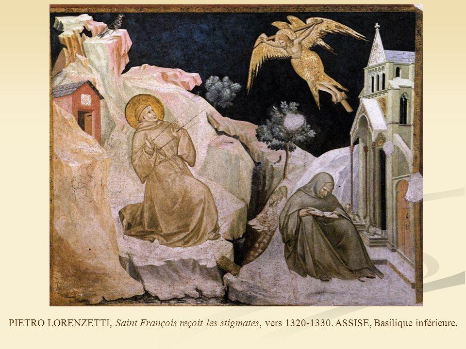 PIETRO LORENZETTI, Saint François reçoit les stigmates, vers 1320-1330