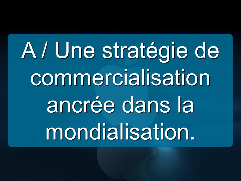 A / Une stratégie de commercialisation ancrée dans la mondialisation.