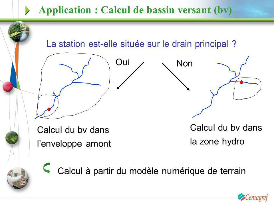 Application : Calcul de bassin versant (bv)