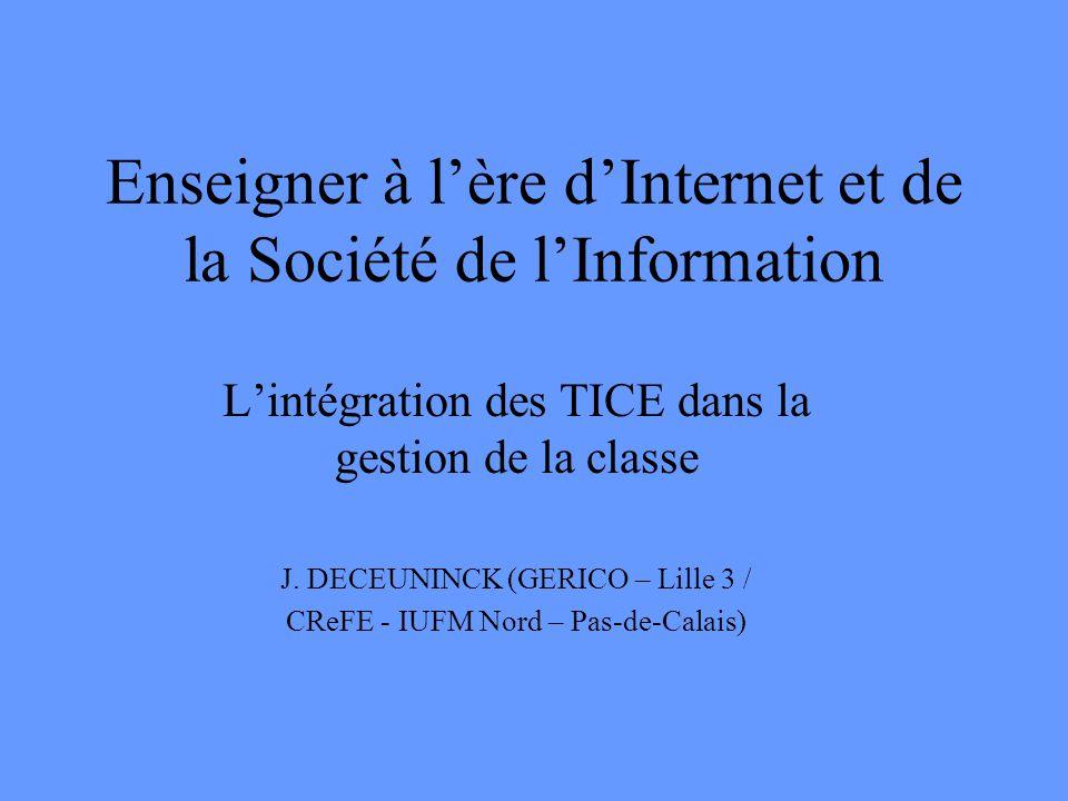 Enseigner à l'ère d'Internet et de la Société de l'Information