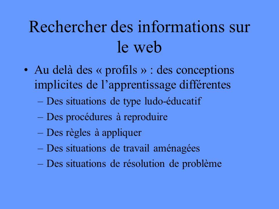 Rechercher des informations sur le web