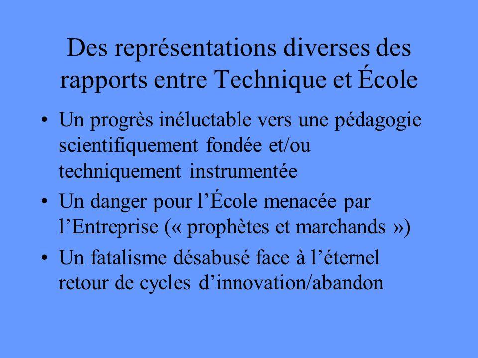 Des représentations diverses des rapports entre Technique et École