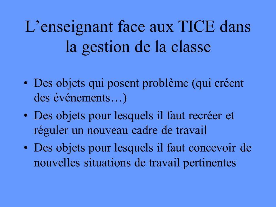 L'enseignant face aux TICE dans la gestion de la classe