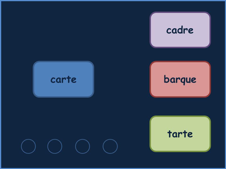 cadre carte barque tarte