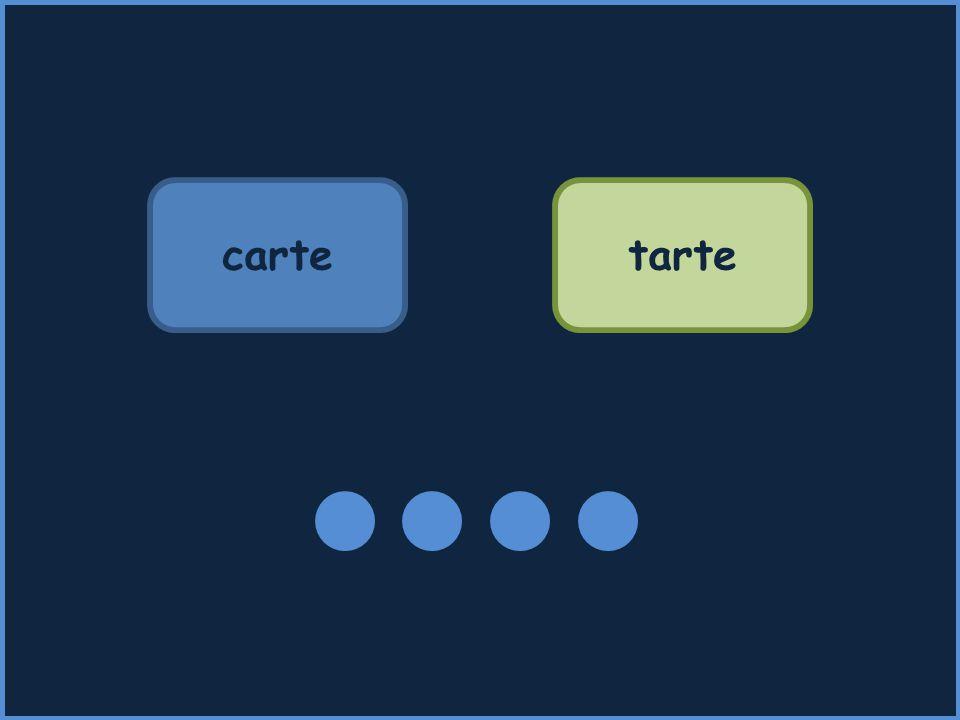 carte tarte