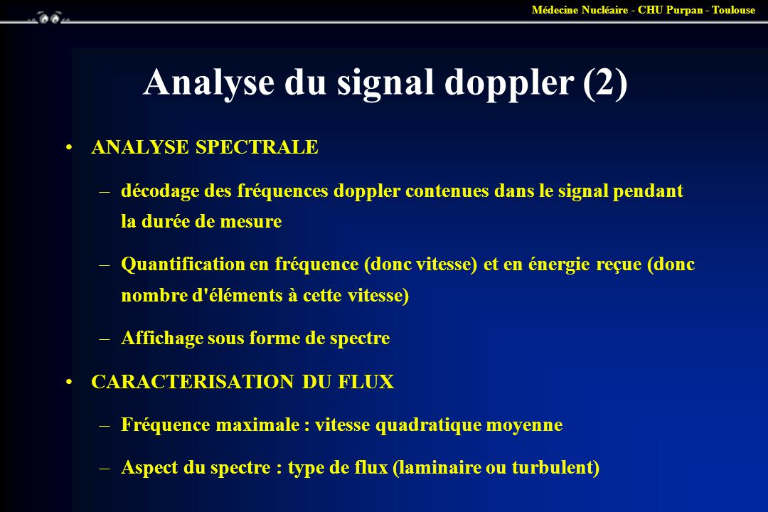 Analyse du signal doppler (2)