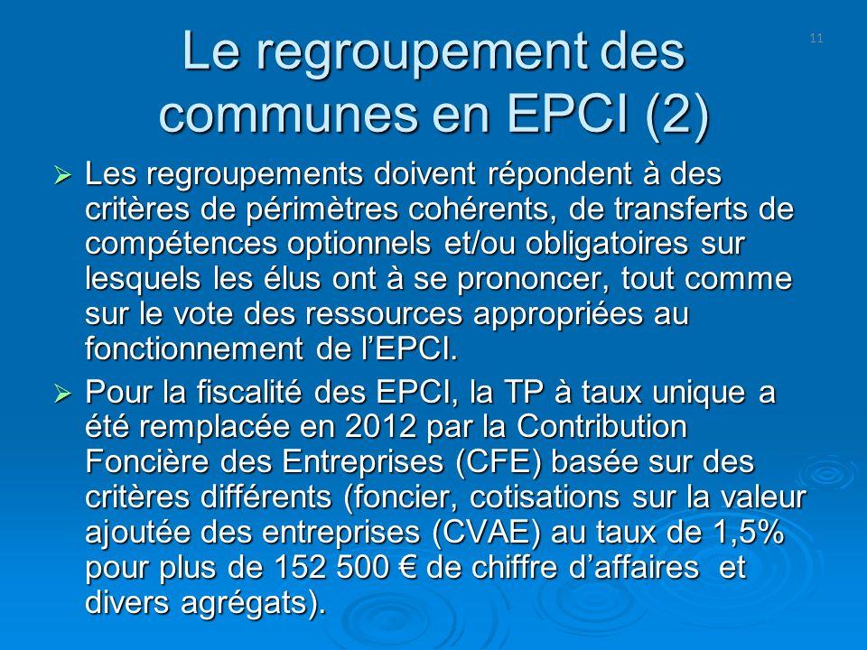 Le regroupement des communes en EPCI (2)