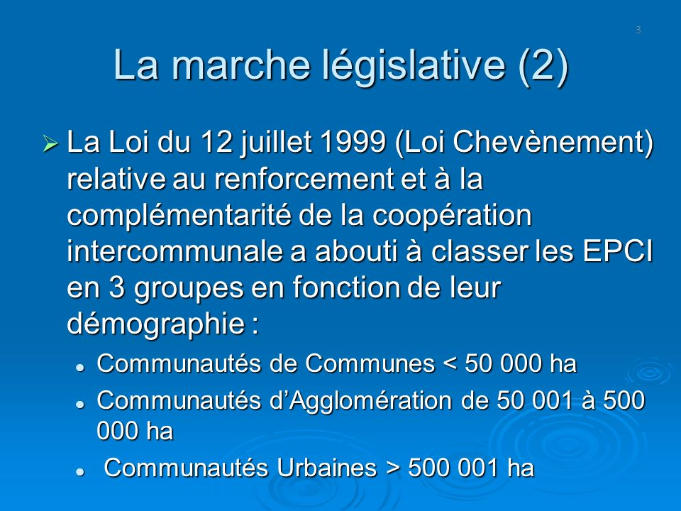 La marche législative (2)