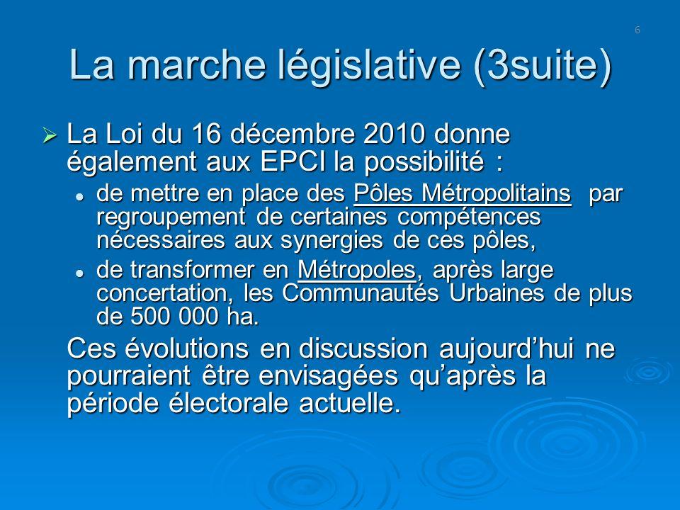 La marche législative (3suite)